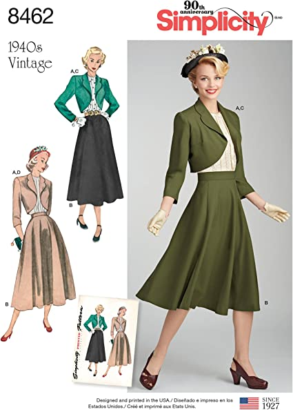 Simplicity 1950s Fashion Womens Vintage Jacket and Dress Sewing Patterns Sizes 6-14
