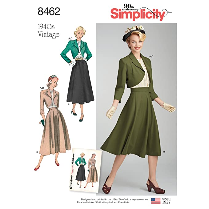 1940s Sewing Patterns – Dresses, Overalls, Lingerie etc 1940s Simplicity Vintage Sportswear H5 (6-8-10-12-14) $7.81 AT vintagedancer.com