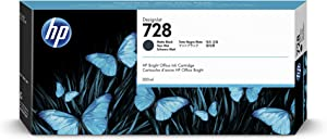 HP 728 Matte Black 130-ml Genuine Ink Cartridge (F9J68A) for DesignJet T830 MFP & T730 Large Format Plotter Printers