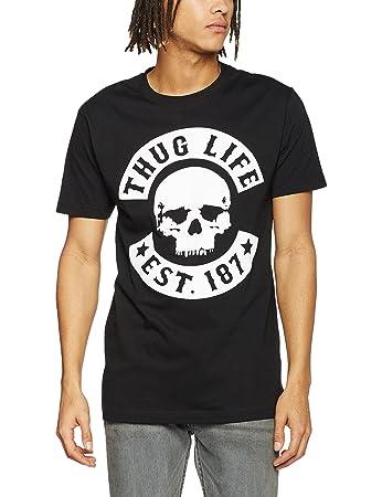Mister Tee Thug Life Skull Tee T-Shirt, Black, XS