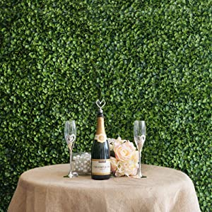Garden Wall Mat Artificial Boxwood Hedge Faux Leaves Foliage - 11 Sq Ft.   Green   Pack of 4