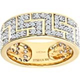 Naava 1 ct Diamond 9 ct Yellow Gold Greek Key Ring