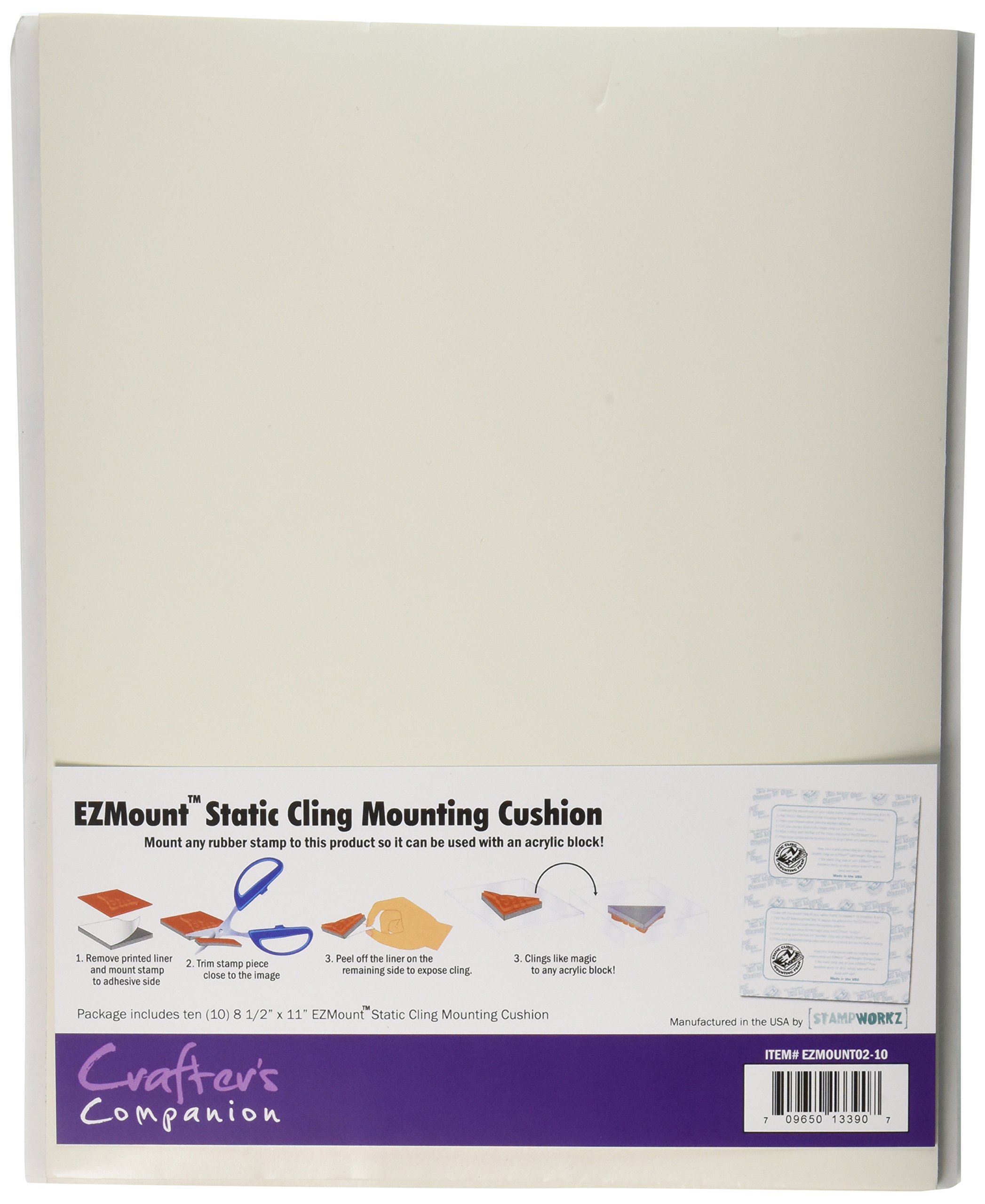 Crafter's Companion EZMOUNT02-10Mount Static Cling Mounting Cushion, 8.5'' x 11'', 10-Count