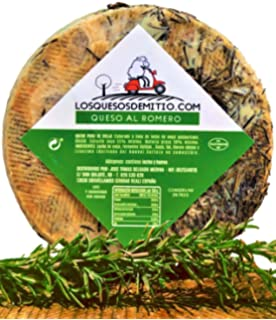 Queso de oveja al romero gourmet con caja de madera premium (español, curado,