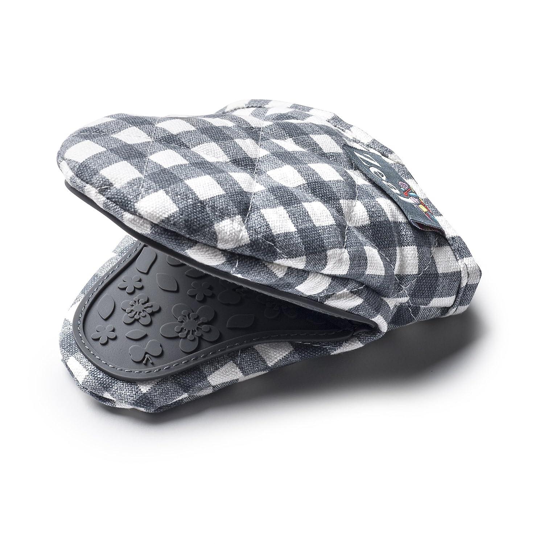 Zeal Vichy Mini support de pot de gant de toilette, coton, gris foncé , 17.5 x 13.5 x 2.5 cm gris foncé 17.5x 13.5x 2.5cm CKS Ltd. V124T