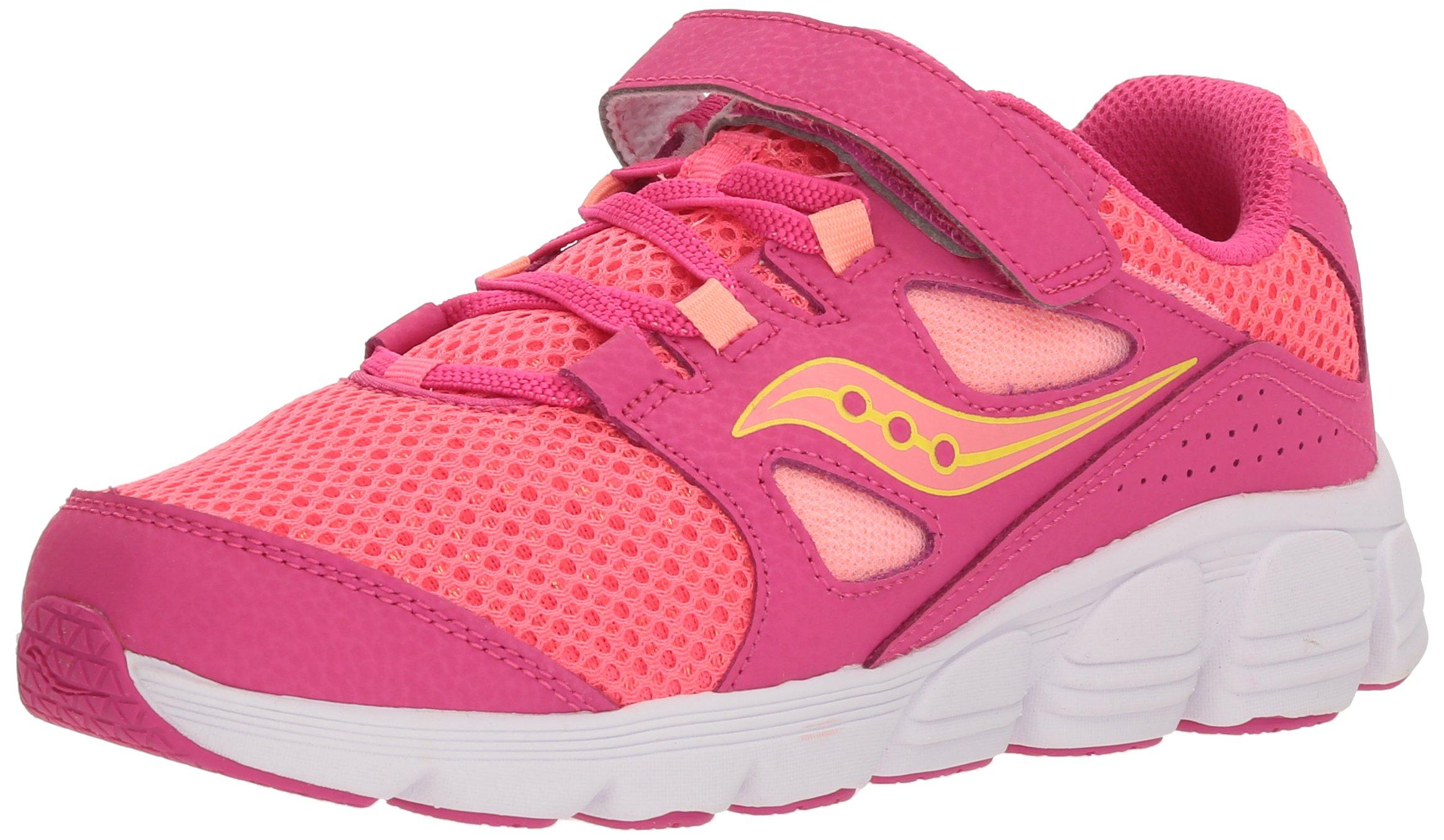 Saucony Kotaro 4 A/C Sneaker (Little Kid/Big Kid), Pink, 2 M US Little Kid