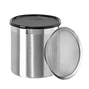 Oggi 7347 Jumbo Grease Can, 4 Quart, Stainless