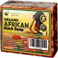 Organic African Black Soap - 5 lb Best for Acne Treatment, Eczema, Dry Skin, Psoriasis, Scars, Dermatitis, White Heads Pimples, Anti-fungal Face & Body Wash, Raw Handcrafted Beauty Scrub Bar …