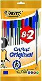BIC Cristal Original Medium - Bolsa de 8+2 bolígrafos, colores azul, negro, rojo y verde