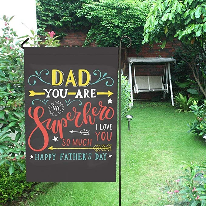Details about  /Who Need Super Hero Father Garden Flag Love Dad Summer House Gift Yard Banner