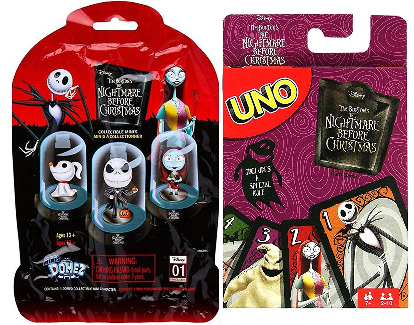 Amazon.com: id Cards Nightmare Go! Uno Card Game Nightmare Before ...