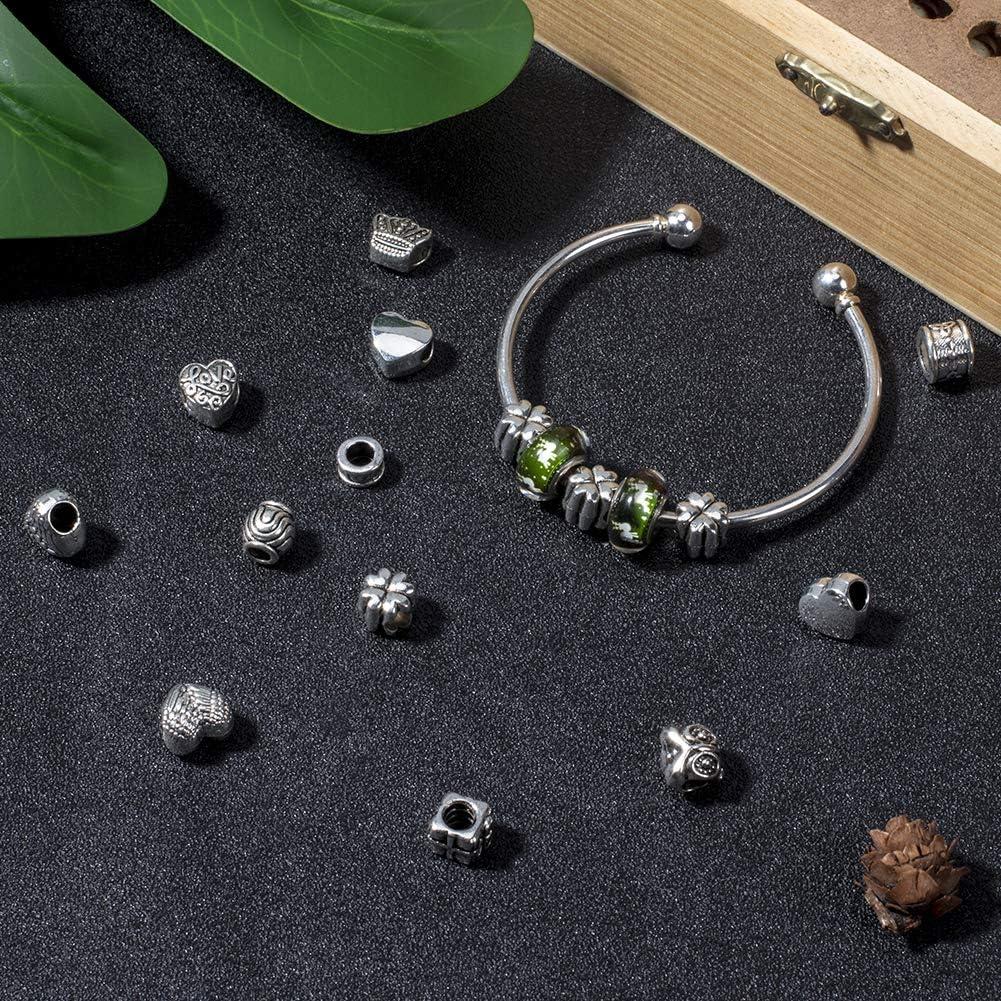 Fit pour bracelet européen 100pcs Fleur Creux Perles Intercalaires plaqué argent