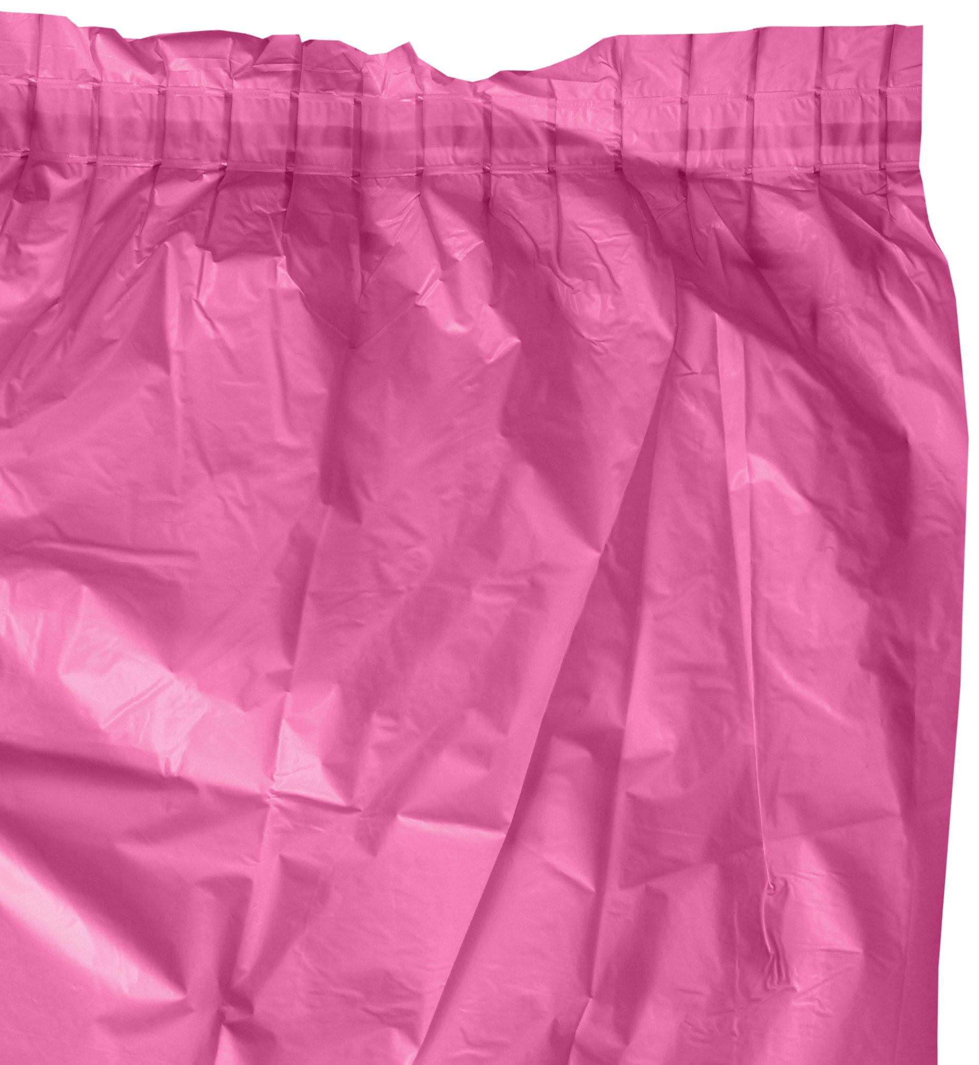 Bright Pink Plastic Table Skirt | Party Tableware | 6 Ct.