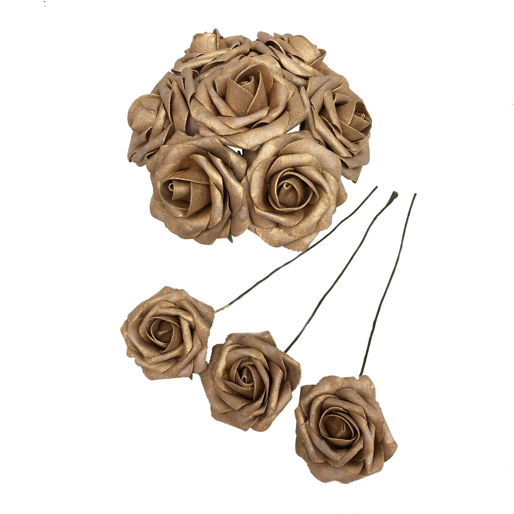 50-pcs-Artificial-Flowers-Foam-Roses-for-Bridal-Bouquets-Wedding-Centerpieces-Kissing-Balls-Gold