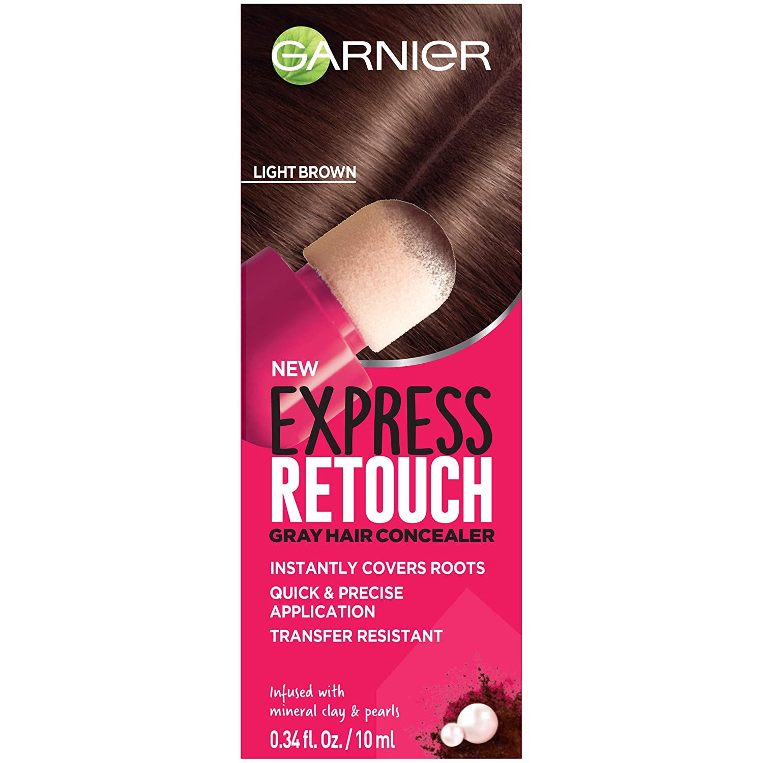 Garnier Hair Color Express Retouch Gray Hair Concealer, Instant Gray  Coverage, Brown, 1 Count