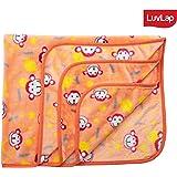 Luvlap Newborn Baby Soft Swaddling Blanket, Orange Monkey (80cm x 100cm)