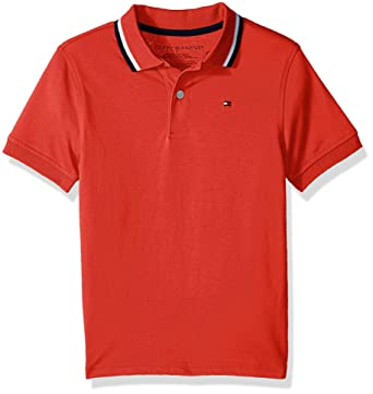 f9c082fb Amazon.com: Tommy Hilfiger Boys' Short Sleeve Performance Polo with Tipped  Collar: Clothing