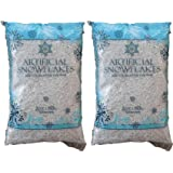 Snow Artificial Flakes 2 Oz Bag Blue Printed Polybag 2 Pack