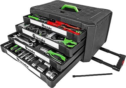 TecTake Maletín con herramientas 899pc piezas maleta trolley caja martillo alicates con 4 cajones: Amazon.es: Bricolaje y herramientas