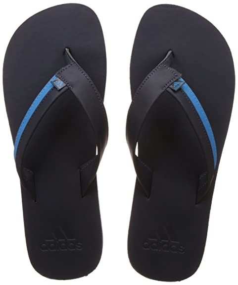 985d643005e36 Adidas Men s Brizo 3.0 Black and Blue Flip-Flops and House Slippers - 6 UK