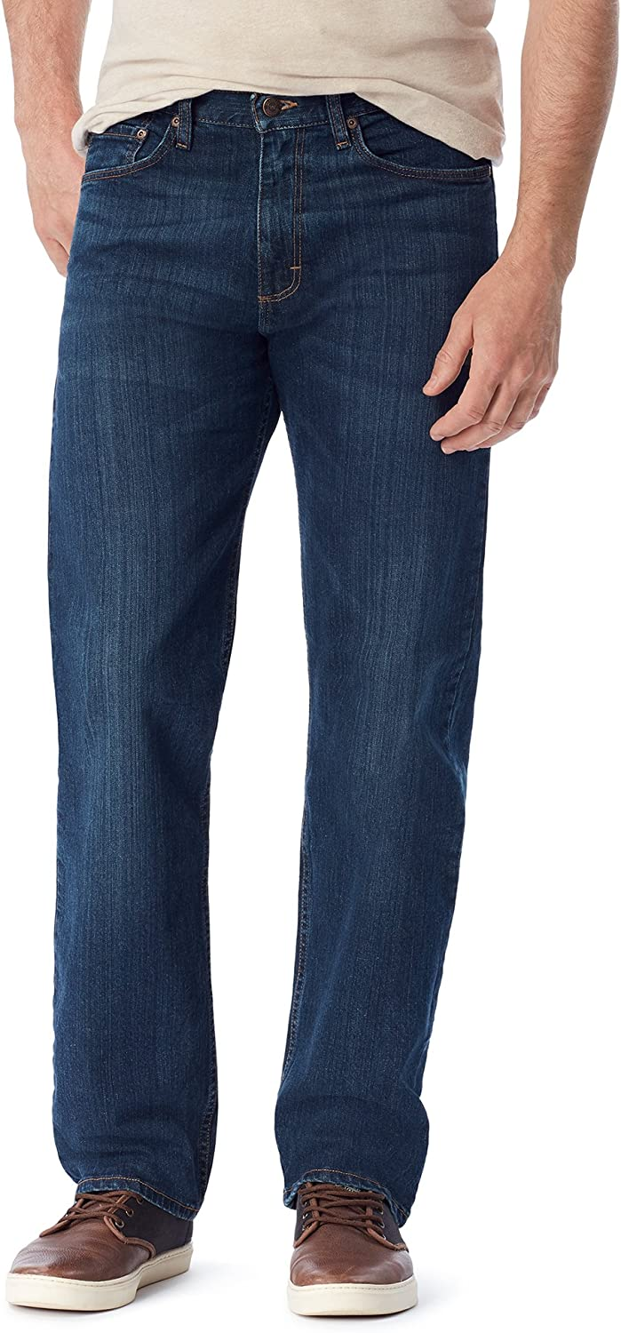 Wrangler Mens Authentics Mens Big /& Tall Classic Relaxed Fit Flex Jean Jeans