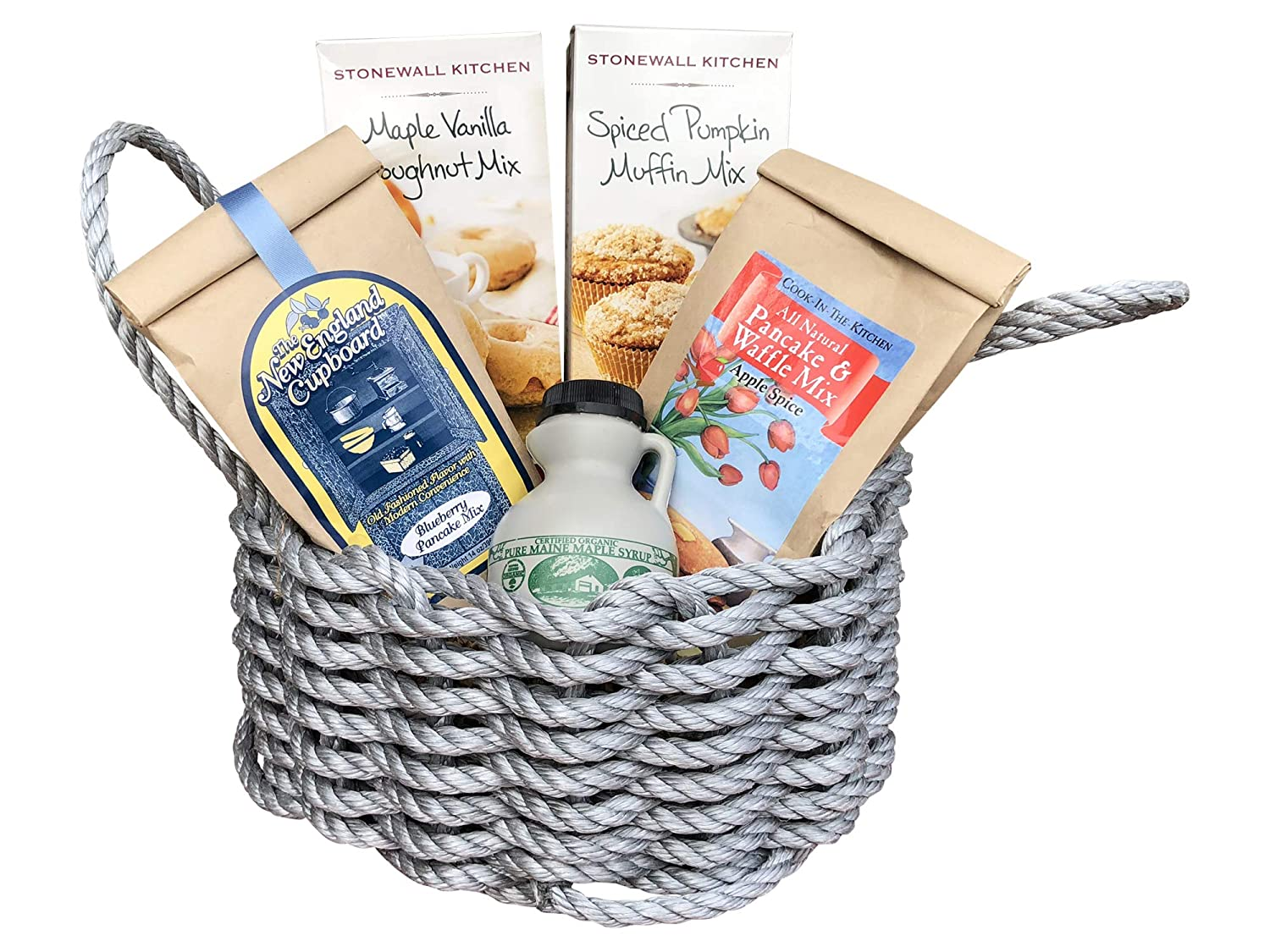 Amazon.com : New England Gourmet Breakfast in a Maine Lobster Rope Gift Basket : Grocery & Gourmet Food