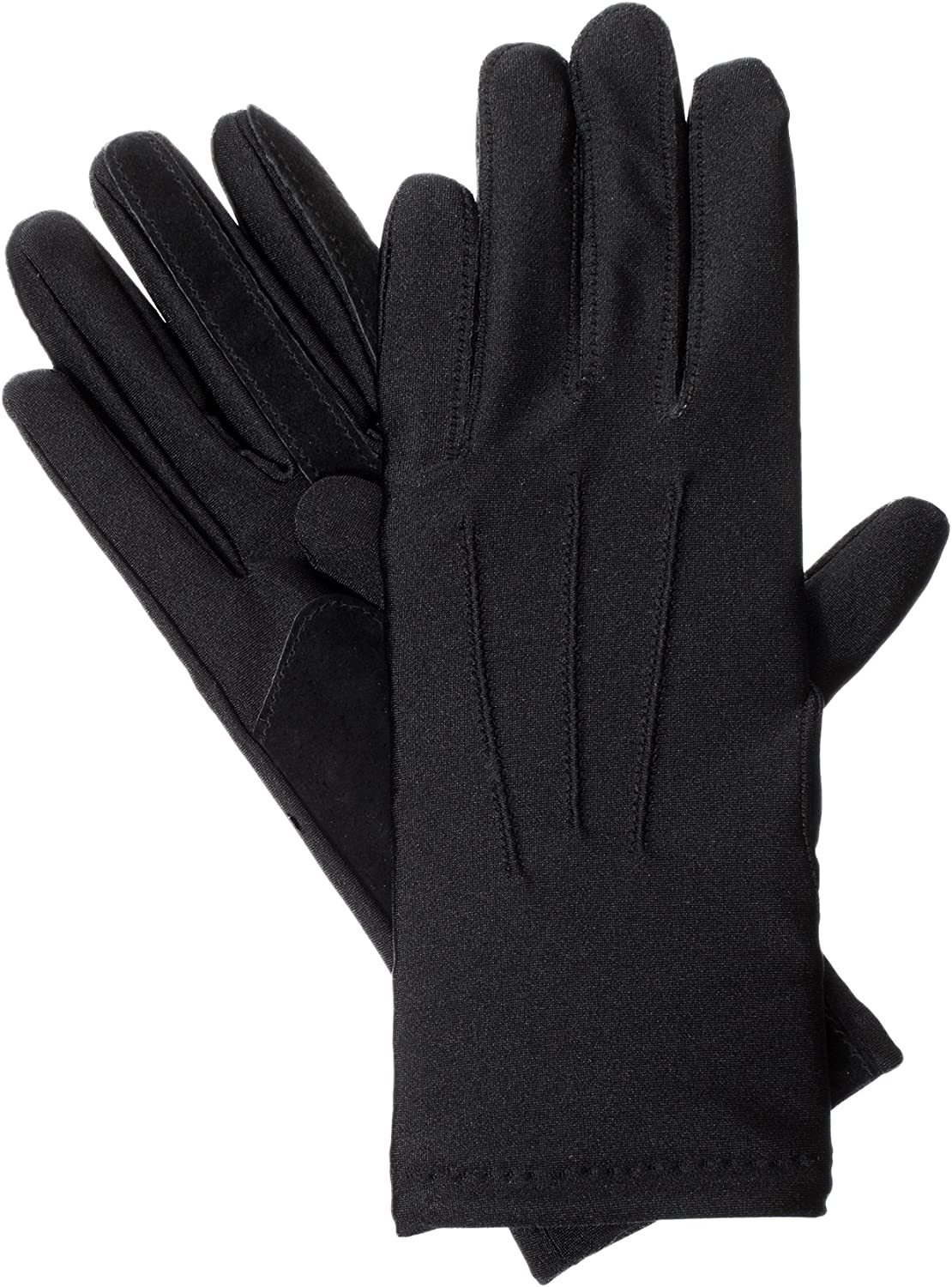 isotoner womens Stretch Classics Fleece Lined Winter Gloves, Black, One Size US at  Women's Clothing store