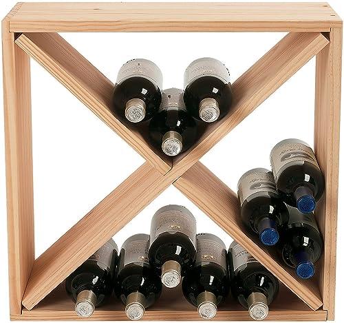 Wine Enthusiast 24 Bottle Compact Cellar Cube Wine Rack