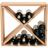 Wine Enthusiast 24 Bottle Compact Cellar Cube Wine Rack, Natural