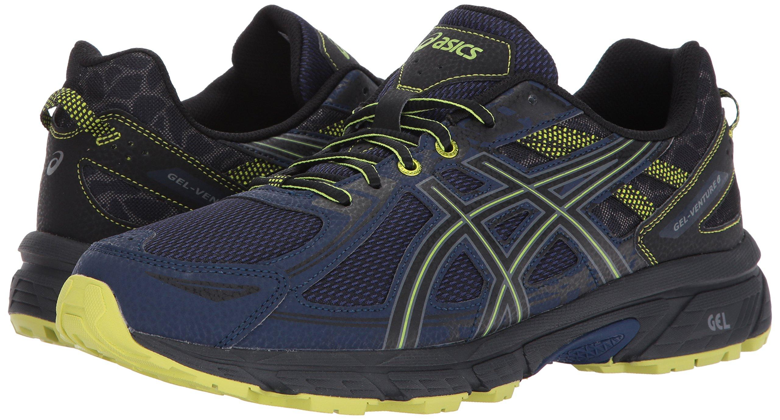 ASICS Mens Gel-Venture 6 Running Shoe, Indigo Blue/Black/Energy Green, 7 Medium US by ASICS (Image #6)