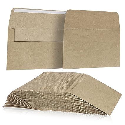 amazon com juvale 100 pack size a7 brown kraft paper envelopes