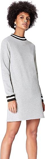TALLA 36 (Talla del fabricante: X-Small). Marca Amazon - find. Vestido Mini Estilo Sudadera para Mujer Blau (Blue) 36 (Talla del fabricante: X-Small)