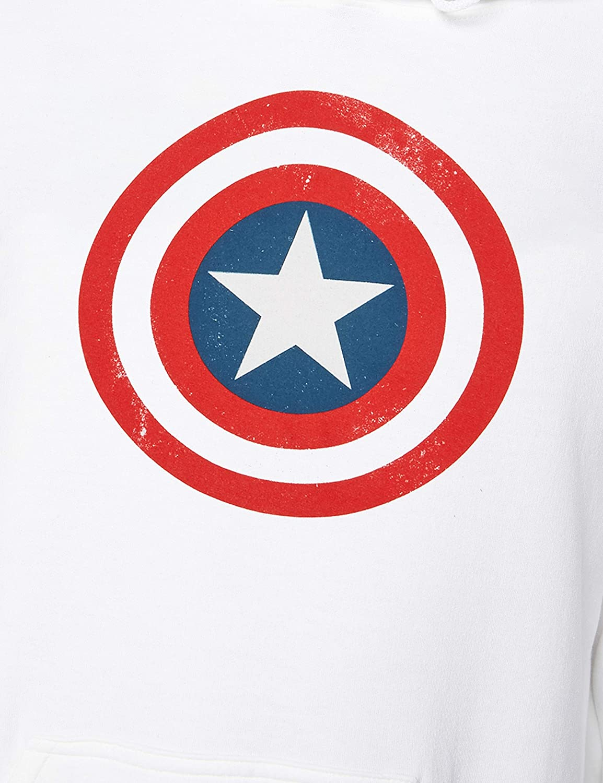 Marvel Avengers Captain America Distressed Shield Camiseta para Hombre