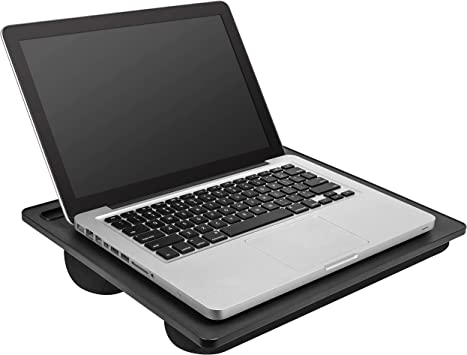 Black Portable Laptop Desk Categories Handle Built-in Cushion For Comfort