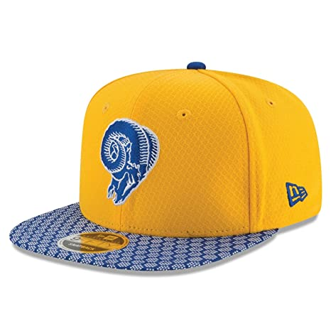 Image Unavailable. Image not available for. Color  New Era Los Angeles Rams 2017  NFL 9Fifty Retro Logo Sideline Adjustable Snapback Hat d6f3ec42f7ea
