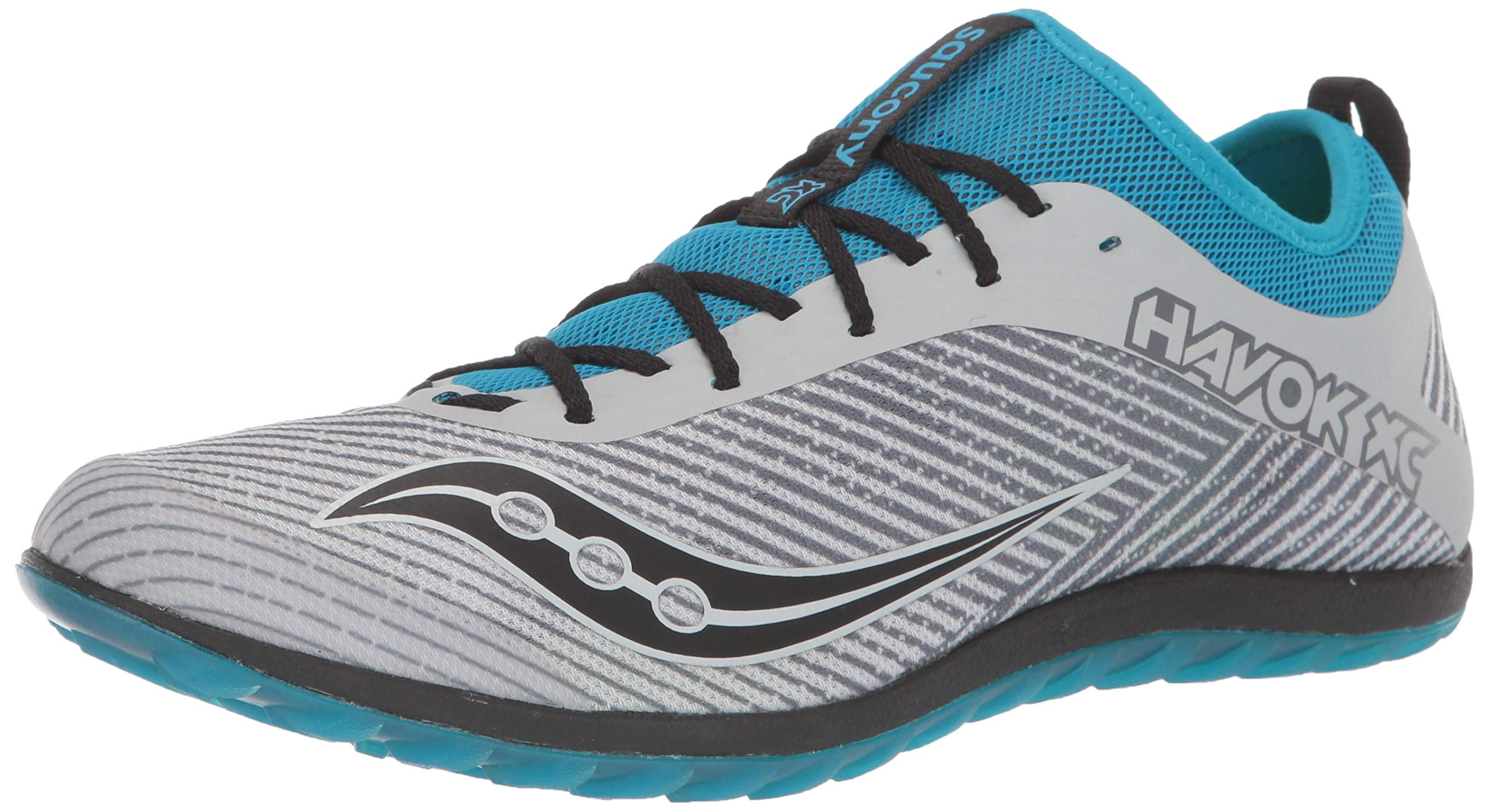 Saucony Men's Havok XC2 Flat Track and Field Shoe, Grey/Blue, 10 Medium US by Saucony