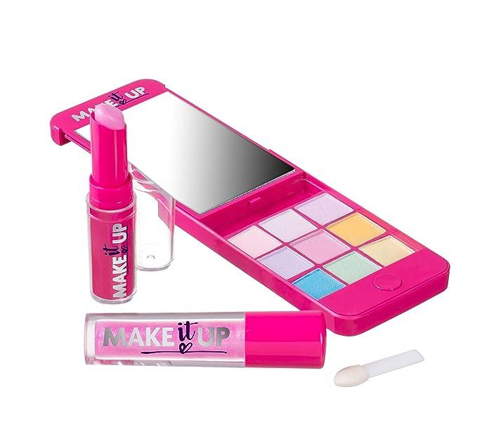 Make It Up - El kit de maquillaje compacto, diseño del iPhone para las chicas con un espejo: Amazon.es: Belleza