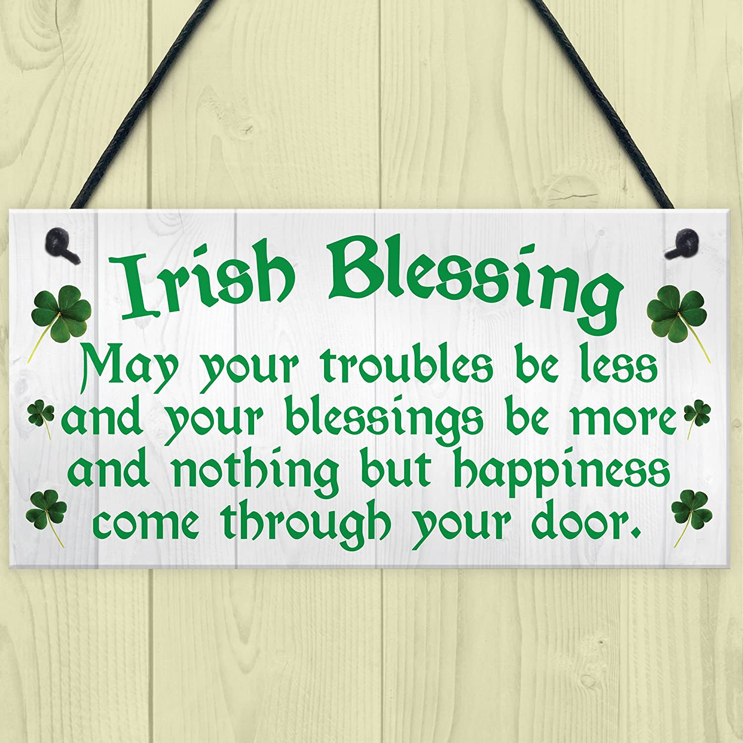 RED OCEAN Irish Blessing Happiness Friendship Gift Plaque St ...