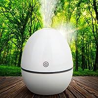 Demiawaking Luftbefeuchter Raumbefeuchter Kalten Nebel Technologie keines Wasser ohne Lärm für Yoga Kinderzimmer Schlafzimmer Büro usw, Weiß