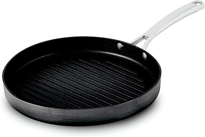 Calphalon 1943288 Classic Nonstick Round Grill Pan, 12 , Grey