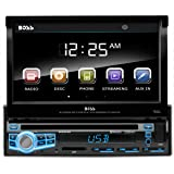 Car Stereo | BOSS Audio BV9976B Single Din, 7 Inch Digital LCD Monitor, Touchscreen, DVD/CD/MP3/USB/SD AM/FM, Wireless Remote, Bluetooth, Multi-Color Illumination