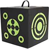 Elkton Outdoors 6-Sided 3D Cube Reusable Archery Target Constructed with Rapid Self Healing XPE Foam for all Arrow Types