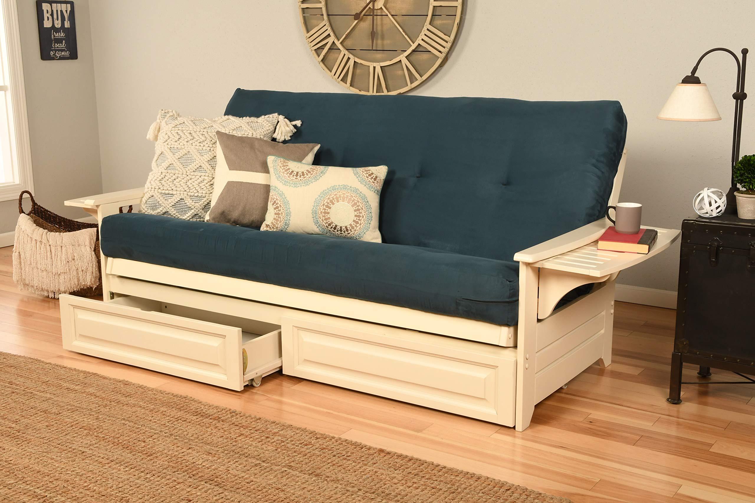 Kodiak Furniture KFPHDAWSNAVYLF5MD4 Futon Set, Full, White by Kodiak Furniture