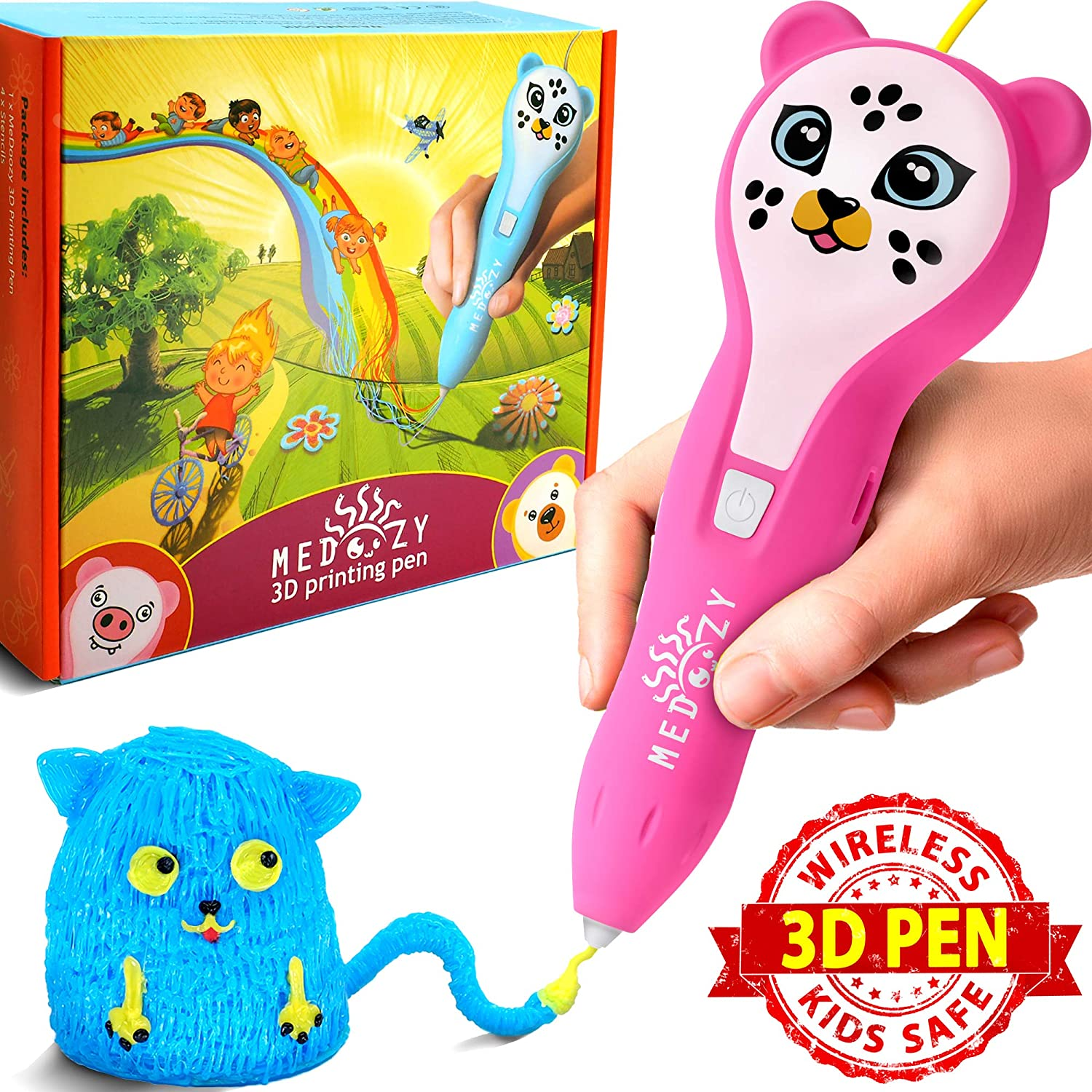 MeDoozy 3D Pen Set - Ideal Girl Gifts Ideas for Birthday - Best Toys for Kids and Teens - Cool Arts and Crafts Girls Toys - Top Stem 3D Printing kit - Fun Educational Learning Children Present