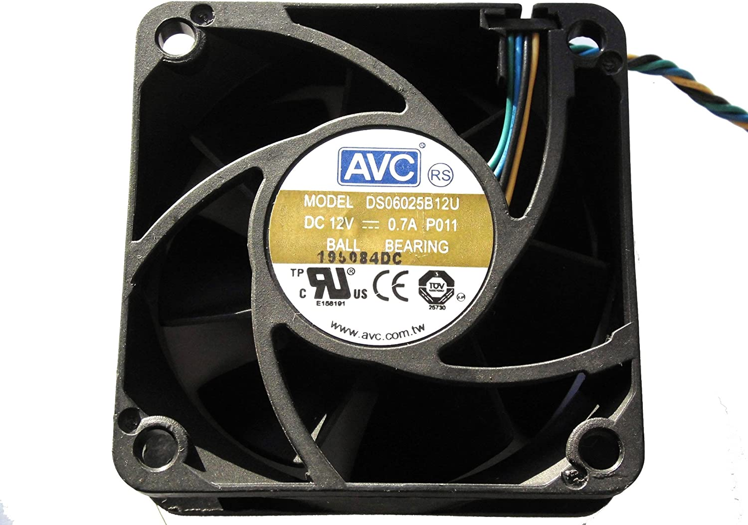 AVC 606025mm DS06025B12U 12V 0.7A 4Wire 6cm Cooling Fan