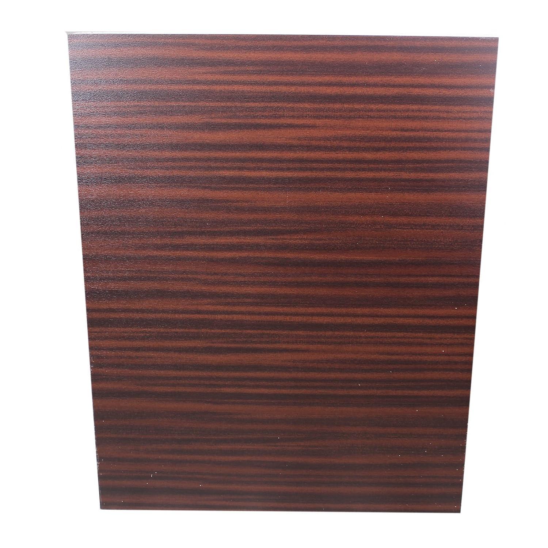 Mahogany uPVC Flat Door Panel (700mm x 900mm) - Mahogany/White, 28mm Hurst Plastics Limited