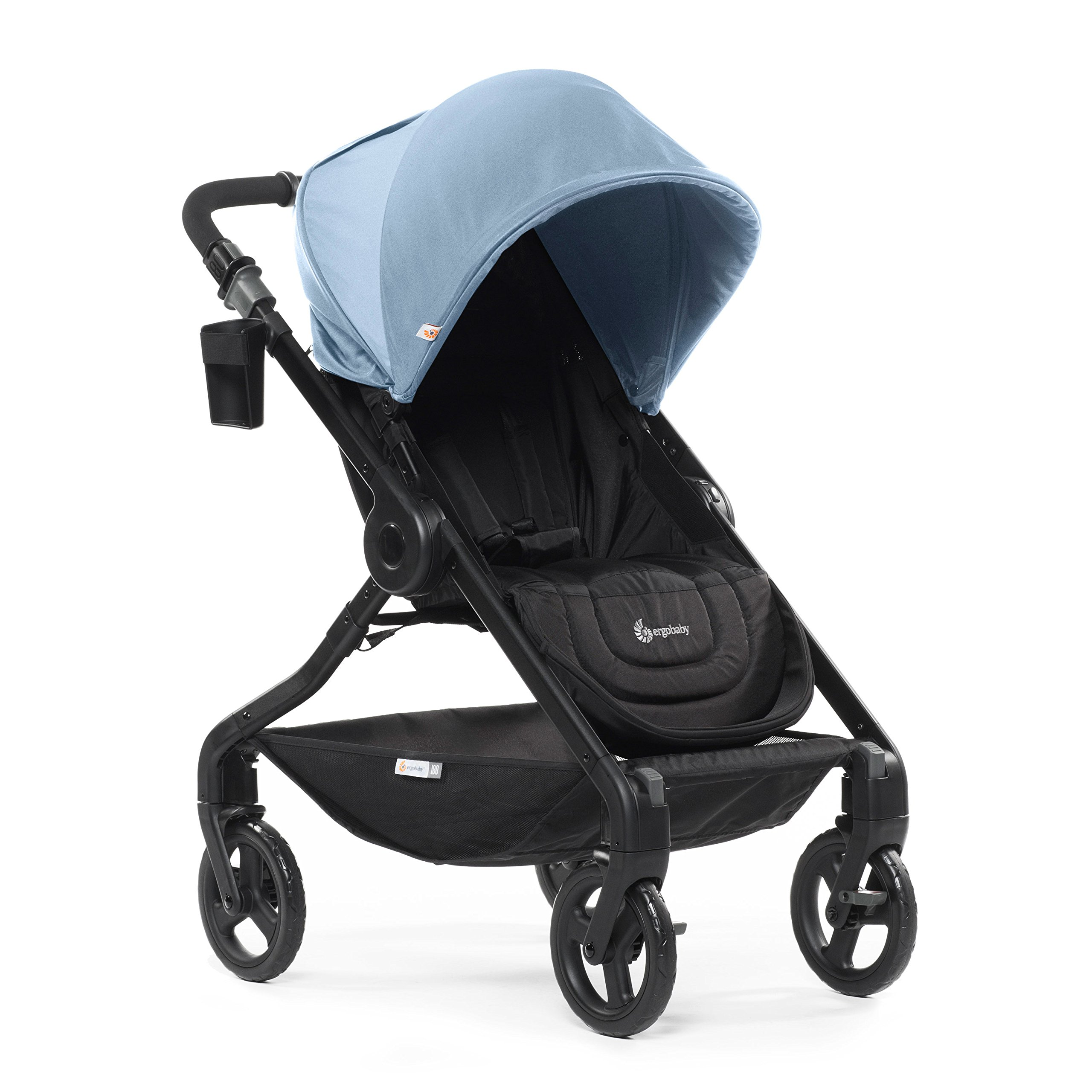 Amazon.com : Ergobaby Stroller, Travel System Ready, 180 Reversible with One-Hand Fold, Misty Blue : Baby