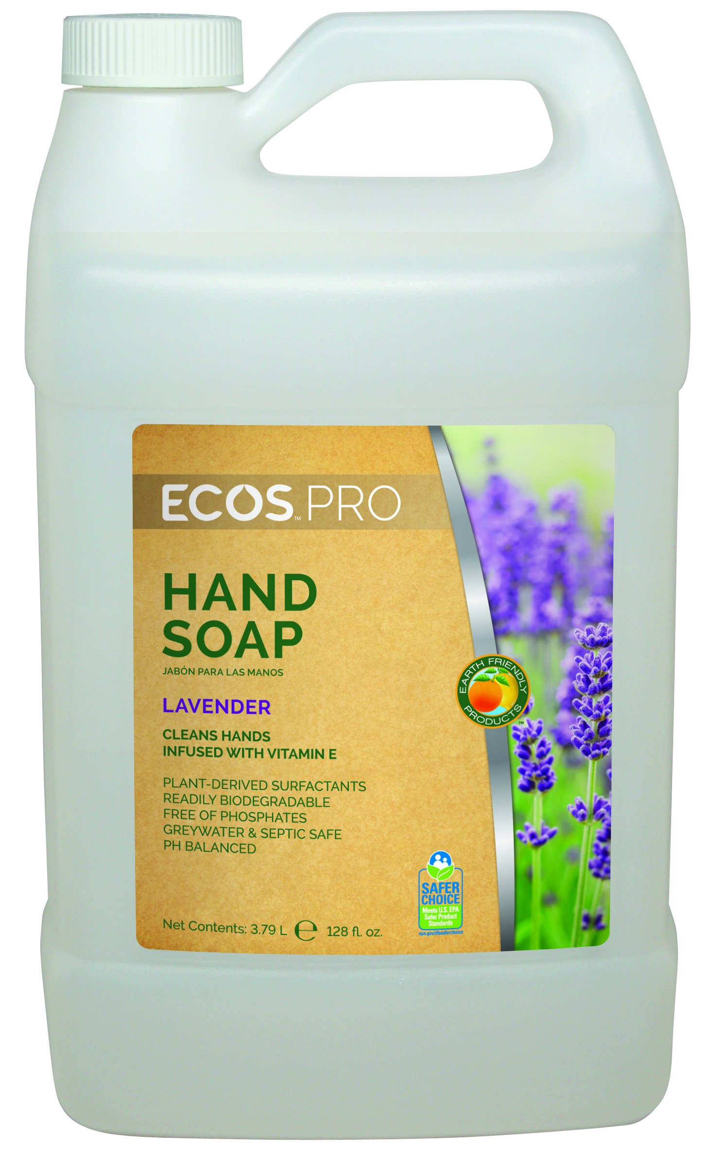 Earth Friendly Products Proline PL9665/04 Lavender Hand Soap, 1 gallon Bottles (Case of 4)