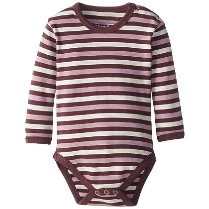4ec898e8d L'ovedbaby Unisex-Baby Newborn Organic Long Sleeve Bodysuit, Eggplant  Stripe, 12/18 Months
