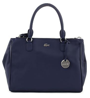 0c8db4d1fa LACOSTE Daily Classic Medium Double Zip Shopper Bag Peacoat: Amazon ...